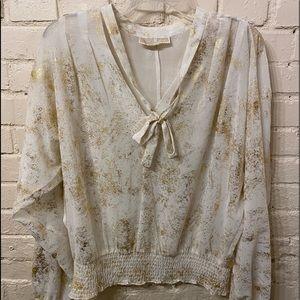 Michael Kors gold/white top, size S/M
